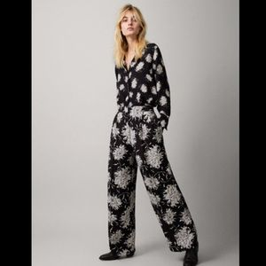 NEW floral print trousers.
